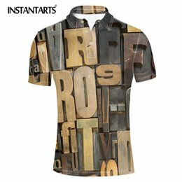 Men S Clothes Canada - INSTANTARTS Harajuku Style Letter Print Casual  Shirt Summer Breathable Male s Shirts Fashion Camisas Tops Clothing Man
