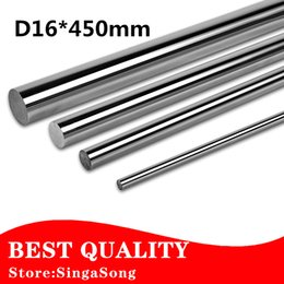 rails for cnc NZ - Free shipping 16mm - L450mm chrome plated Cylinder Linear Rail Round Rod Shaft Linear Motion Shaft for CNC XYZ