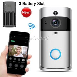 Battery Slot NZ - New Smart Video Doorbell 2 with 3 Battery Slot Wifi Security Camera Real Time Two Way Talk PIR Motion Detection APP Control