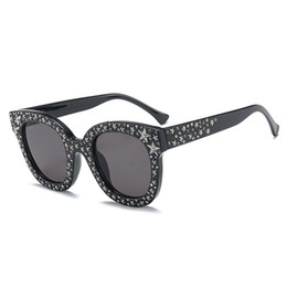 7a7d486789 2018 Luxury Italian Brand Sunglasses Mujeres Crystal Square Gafas de sol  Mirror Retro Full Star Sun Gafas Mujeres Negro Gris Sombras