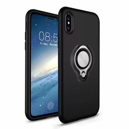 SheetS caSe online shopping - For NEW IPHONE XR XS MAX Armor Phone cases Dual Layer With Iron Sheet Magnetic Ring Car Holder Magnetic Bracket Ring Cases