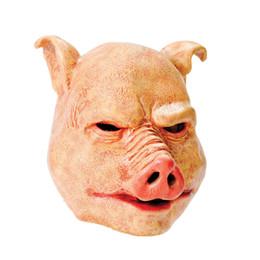 Großhandel X-Merry Toy Freies Verschiffen-Grausigkeits-Schwein-Halloween-Latex-volle Gesichtsmaske Fancydress Zusatz-Unkosten Freies Verschiffen