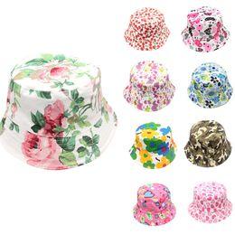 b6a9ff336ed Toddler Baby Hats Kids Boys Girls Floral Pattern Bucket Hats Summer Sunhat  Helmet Cap Clothing Accessories