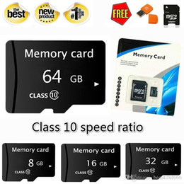 tf flash memory 2019 - Brand Real capacity 1GB 8GB 16GB 32GB 64GB 128GB High Speed MicroSD SD TF Card Class10 Flash Memory + SD Card Reader + A