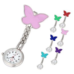Chinese  Nurse Clip-on Fob Brooch Pendant Hanging Butterfly Watch Pocket Watch New fashion ladies beautiful clock girl luxury elegant A60 manufacturers