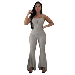 a8a44d5a3d22 Spaghetti Strap Sexy Rompers Womens Jumpsuit Black White Vertical Striped  Party Overall Summer Backless Lace Up Catsuit