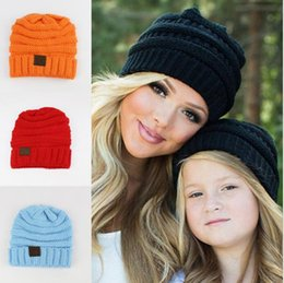 New Fashion Children CC Beanie Caps For 3 to 12 Year Old Winter Outdoor Warm  Ponytail Hats Kids Girl Knitted Crochet Skull Beanies A307 crocheted spring  ... 5d9cc20b1239