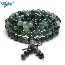 TibeTan sTyle necklace online shopping - Ayliss New Style mm mm Tibetan Buddhist Natural Stone Healing Gem Stone Mala Prayer Beads Stretch Bracelet Necklace