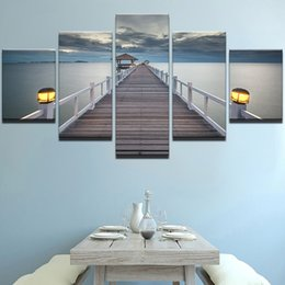 art canvas prints Australia - No Frame Modern HD Printed Paintings Modern Decorative 5 Panel Bridge Canvas Art Prints Wall Picture For Home Decoration Painting
