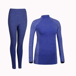Wholesale thermal long johns resale online - Thermal Underwear Sets Women Winter Brand Anti microbial Stretch Women s Thermo Underwear polyester Warm Intimates Long Johns
