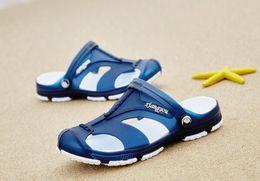Thick Sole Sandals Australia - Men's Slippers Summer Breathable Sandals Thick-soled non-slip sandals men outdoor wear summer Korean sandals