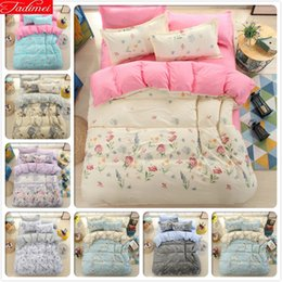 $enCountryForm.capitalKeyWord NZ - Floral Pattern AB Side Duvet Cover 3 4 pcs Bedding Set Single Twin Queen King Size Quilt Comforter Pillow Case Cotton Bed Linens