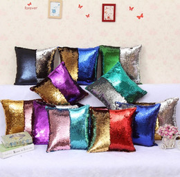 $enCountryForm.capitalKeyWord Canada - Gradient Pillow Case Sequin Cover Mermaid Cushion Cover Insert Magic 37 Styles Double Cushion Paillette Cover Sofa Wedding Bed Decor DHL