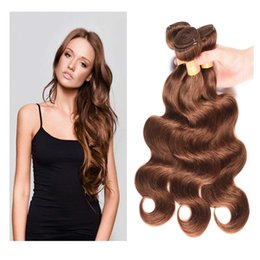 Discount hair extensions 33 - Brazilian Remy Human Hair Bundles Body Wave Hair Extensions Jet Black #1 Brown Color #2 #4 #27 #99j #33 #30 Human Hair W