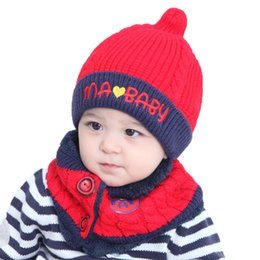 25a8f923f78 Baby Winter Warm Knit Hat Scarf Set 2pcs Cute Toddler Kid Crochet Beanie  Cap for 1-3 Years Old Kids