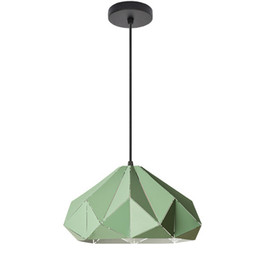 pendant lamp kids NZ - Modern simple macaron pendant lights colorful hanging light metal diamond shape single head droplight for kids room restaurant pendant lamps