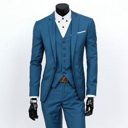 Traje formal de 3 piezas para hombre, compuesto por chaqueta, chaleco y pantalones. Elegante, disponible en una variedad de colores lisos S 3XL