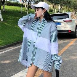 c9e774ccb153f3 Autumn Blouse Women Vogue Striped Shirt Design Harajuku Long Sleeve shirts  Korean Style Loose tops fashion 2018 Women Blouses