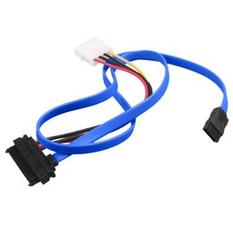 Chinese  Wholesale- 7 Pin SATA Serial ATA to SAS 29 Pin and 4 Pin Power Adapter Connector Cable for Hard Disk Drive manufacturers