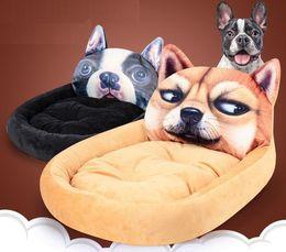 $enCountryForm.capitalKeyWord Australia - Small Medium Pets Kennels Short Plush 3D Cartoon Animal Nest Pet Nest Small Cat Dog Mattress Pet Kennel Cat Sleeping Pad Houses