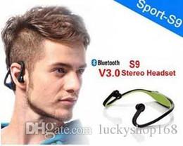 Speaker Ear Australia - Bluetooth Headphone S9 Wireless Stereo Headset Sports Bluetooth Speaker Neckband Earphone Bluetooth 4.0 With Retail Package In Retail Box