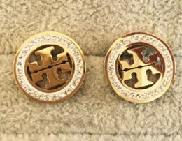 Vente chaude New Stud Earrings Lettres Oreille Marques Stud Earring Bijoux Accessoires pour Femmes Cadeau De Mariage Livraison Gratuite en Solde