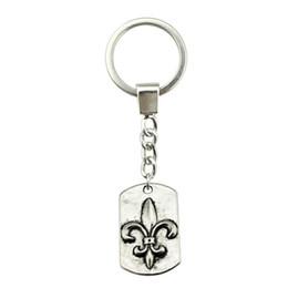 Fleur lis ring men online shopping - 6 Pieces Key Chain Women Key Rings Couple Keychain For Keys Fleur De Lis Tag x17mm
