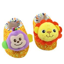 $enCountryForm.capitalKeyWord UK - Baby shoes soft carton animal shoes Soft Baby Toys lion elephant rabbit monkey Rattles Plush Toys Bell Toy
