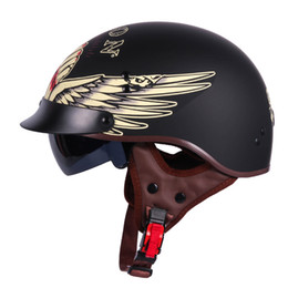 Vintage Motorcycle Helmet Xxl Australia - TORC T55 motorcycle helmet vintage Harley helmet retro scooter half with inner visor lens casco moto DOT