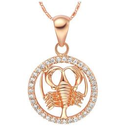 Cancer Necklaces UK - Rare 12 Zodiac Aries Taurus Gemini Cancer Leo Virgo Libra Scorpius Sagittarus Capricornus Aquarius Pisces Pendant Gold Necklace
