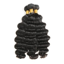 Chinese  Loose Deep Wave Bundles Brazilian Hair Bundles Soft and Bouncy Loose Wave 3 Bundles Natural Color Free Shipping manufacturers