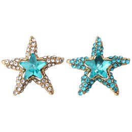 $enCountryForm.capitalKeyWord UK - New 12mm Snap Jewelry DIY Accessory Full Rhinestone Starfish Snap Fit 12mm Button Snaps Bracelet Necklace ZL079