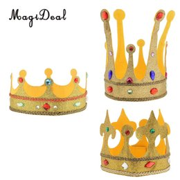 plush hair accessories 2019 - Glitter Princess Plush Crown Hat with Crystal Decor Kids Adult Fancy Dress Costume Hair Accessories cheap plush hair acc
