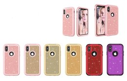 Back glitter iphone sticker online shopping - For iPhone X Cases Bling Glitter Sticker Hard Case for iPhone X S Plus Rugged Silicone TPU PC Shockproof Back Cover