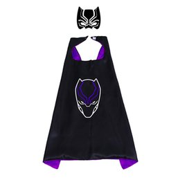Chinese  Thanos cape 70*70cm Double layer Children Panther Cape with Mask kids Cosplay Capes and Mask for Christmas Halloween Cosplay Prop Costumes manufacturers