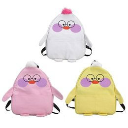 $enCountryForm.capitalKeyWord UK - Glasses Duck Backpack for Teenagers Girls Women Autumn Canvas Backpack Leisure Thick Cute Cartoon Shoulder Bag Female