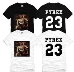 11f34822 Art 3D men women pullover harajuku tops Cotton Kanye West t shirt 23 tees  streetwear design tshirt man Sleeve round neck couple short sleev