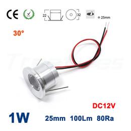 Waterproof Remote Control Light Switch Australia - 15PCS 1W 100Lm DC12V 80Ra 25mm 30 Degree Waterproof 1Watt Interior Bulb Downlight Mini Led Spot Light Outdoor Deck Lamp
