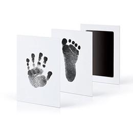 Empreinte de pas d'empreinte de pas de bébé Empreinte de trousse d'imprimerie Coulée Main de parent-enfant Tampon encreur de pied-de-pied de pied d'enfant Infant Keepsakes Toys 6 couleurs C4799 en Solde