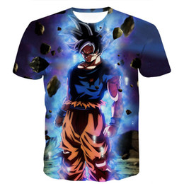 12cba3623 Dragon Ball Z Goku T Shirts Canada - Dragon Ball Z Men's Summer T-shirts
