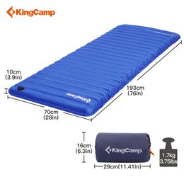 Wholesale KingCamp Inflatable Air Mattress Lightweight Single Camping Mat Tent Sleeping Pad PVC Durable Airbed for Outdoor Camping Hiking