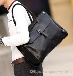 Briefcase Backpacks Canada - factory sales brand new leather handbag bag Korean men fashion business men fashion soft leather briefcase Travel Backpack