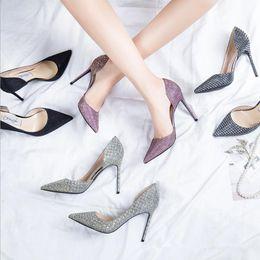 largest supplier online 2018 High Quality Fashion Large Size Crystal Wedding Women Girls High Heels Heeled Pumps Dress Shoes #07 sale best wholesale AsMDK8zw