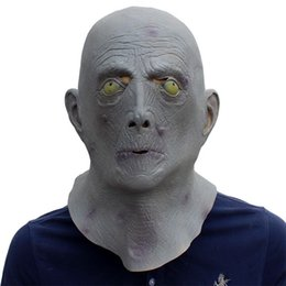 halloween costume head mask 2018 halloween terror mask old man elderly bald latex mask full