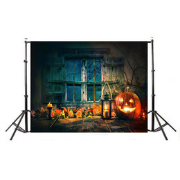 Halloween pHotograpHy backdrops online shopping - MINIFOCUS photography background terror cemetery skeleton Castle Halloween theme backdrop professional photo background studio