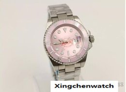 Ship Free Mens Wrist Watches Australia - Top quality Luxury Sapphire 38mm Pink DIAL MODEL 116618 Automatic Sport Mens Watch Men's Wrist Watches Free Shipping