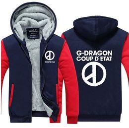 Bigbang Kpop Baseball Sweatshirt Women T.o.p Gd G-dragon Capless Warm Winter Hoodies Men Fashion Jacket Clothes Women's Clothing