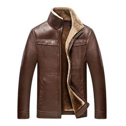Mens Leather Parkas Canada - Men's winter coat Men casual thicken velet warm leather jackets mens jackets and coats winter down coat plus size 4XL parkas
