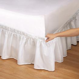 Bett Rock 6 Farben Gebürstet Tuch Bettabdeckungen ohne Bett Oberfläche König Königin Größe Gummiband Röcke 38cm Höhe Bettdecke im Angebot