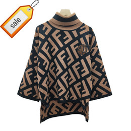 Real fleece online shopping - women sweaters pullover Autumn And Winter New Product F Large Sleeve Easy Korean High Collar Sweater Female Real photos Wool Blending